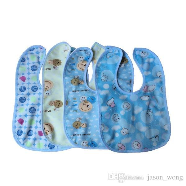 Cartoon Baby Bibs Eva Waterproof Newborn Bandanas Feeding Baby Burp Cloths Girls Boys Saliva Towel double layer Burp Cloths