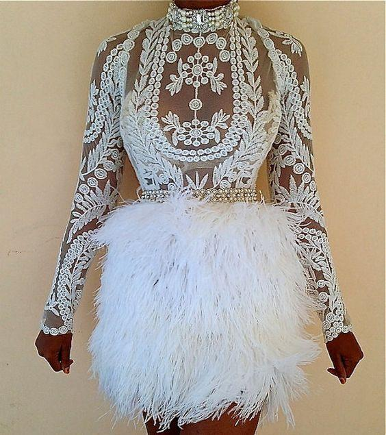 Sexy Feather Cocktail Dresses Long Sleeves Sheath Lace Applique Short Prom Gowns Cheap Mini Formal Party Dress
