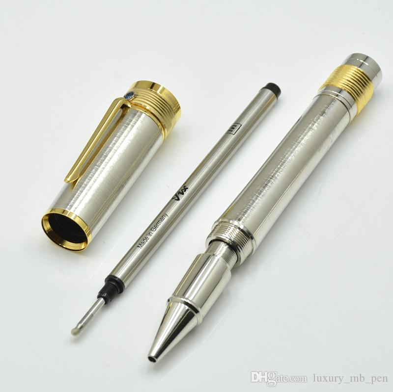 Luxury writer series special diamond cap and Black carbon fiber Roller ball pen with executive office supplies MB brand writing gift pens