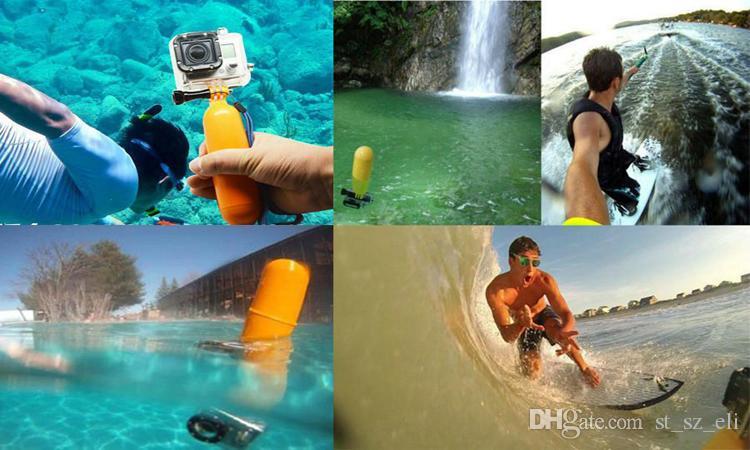 Mais novo Punho Flutuante Pega Monte Handheld Selfie Monopé Pega com Função de Armazenamento para GoPro Hero 1 2 3 3 + 4 Câmera