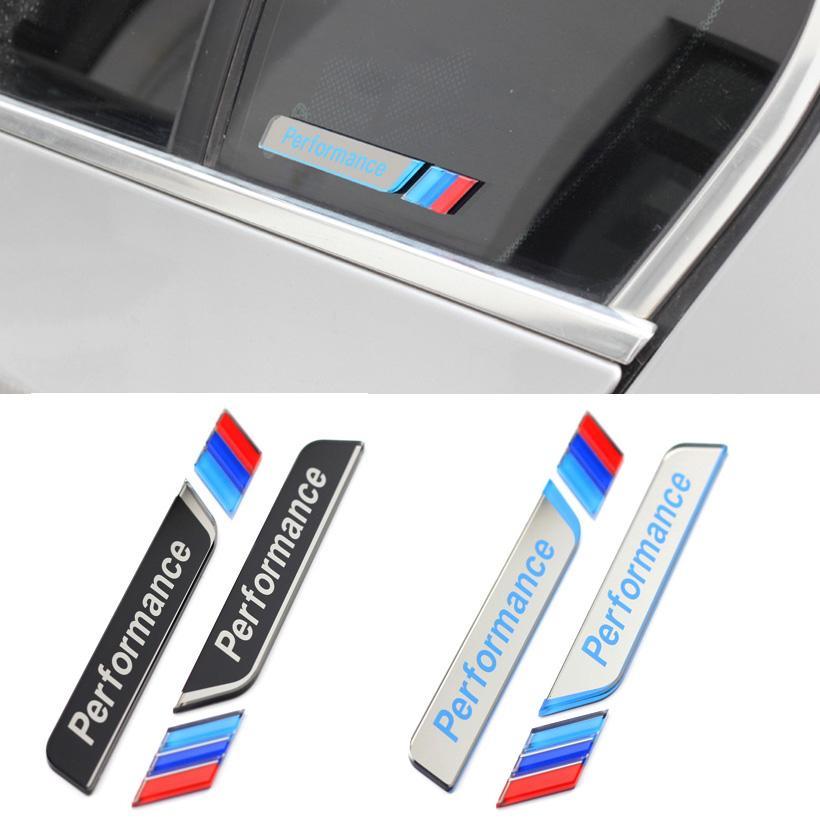 Acrylic m performance window decal sticker m power side fender emblem badge for bmw 1 3 5 series e90 f30 f10 e60 e46 m performance window decal sticker m