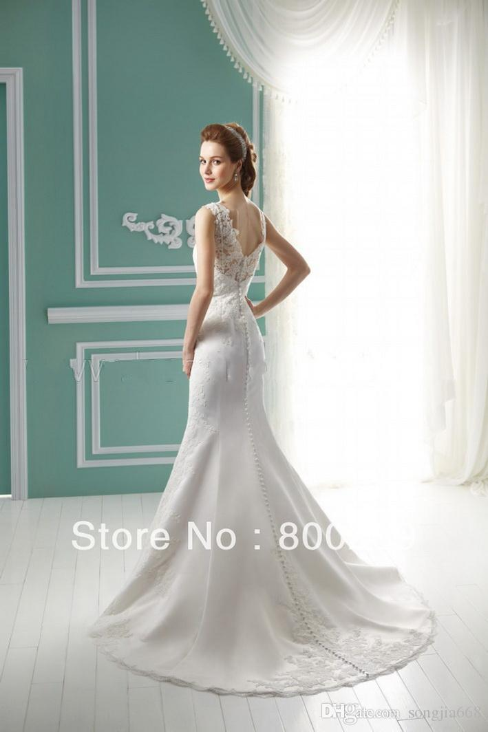 2020 NEW HOT Cheap Dress High Quality Dress Selling Mermaid Sweetheart Lace Overlays Frong Slit Wedding /Bridal