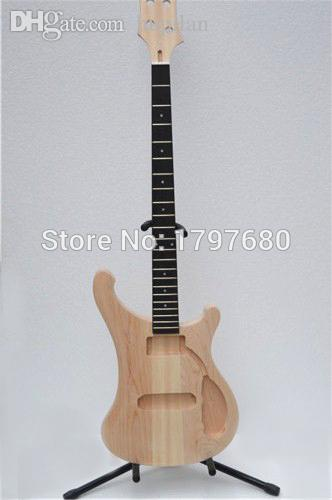 wholesale top unfinished product diy guitar rick 4003 bass guitar with through mapel neck and. Black Bedroom Furniture Sets. Home Design Ideas