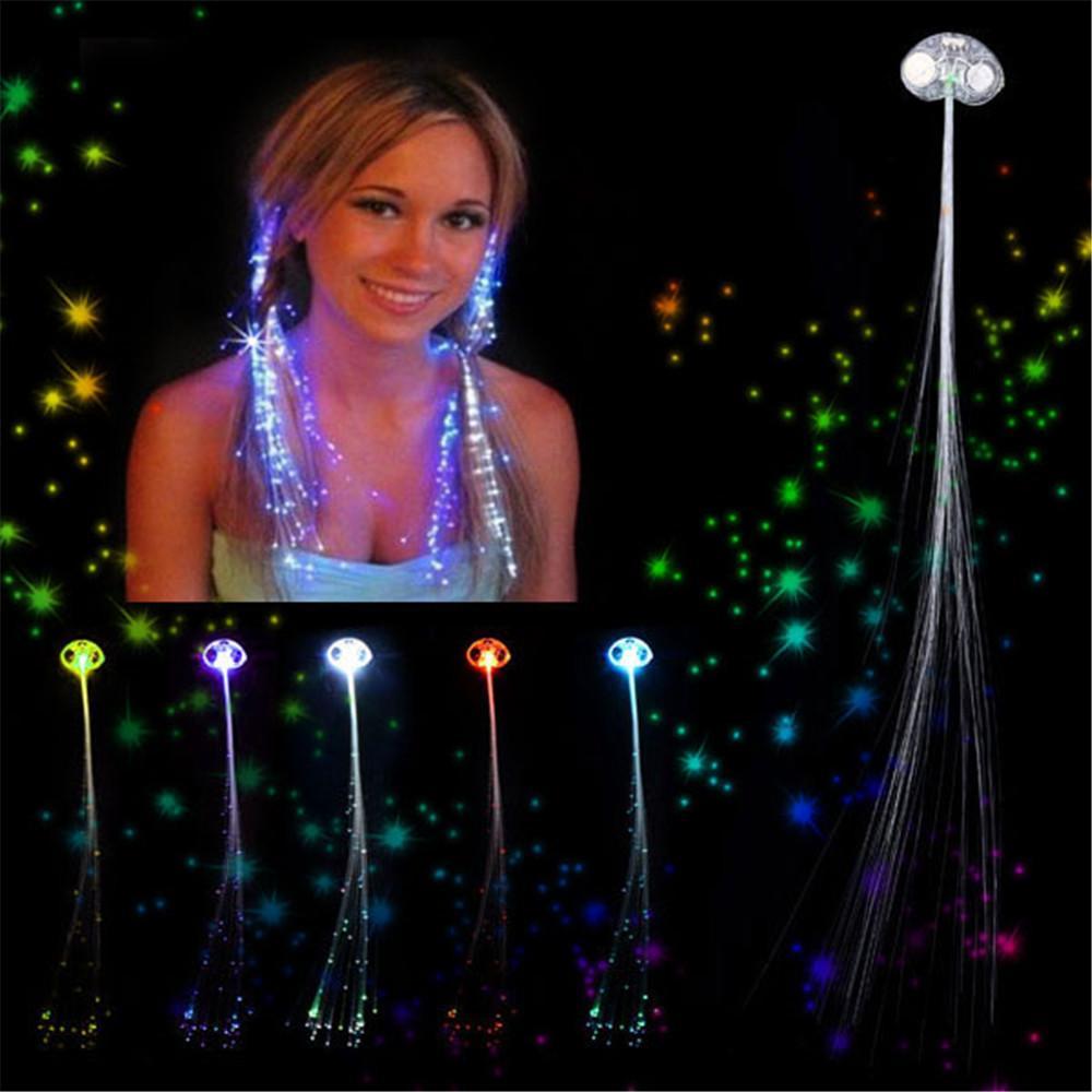 Light up fiber optic led hair lights clip rave party hair light up fiber optic led hair lights clip rave party hair accessories 2 pcs pmusecretfo Images