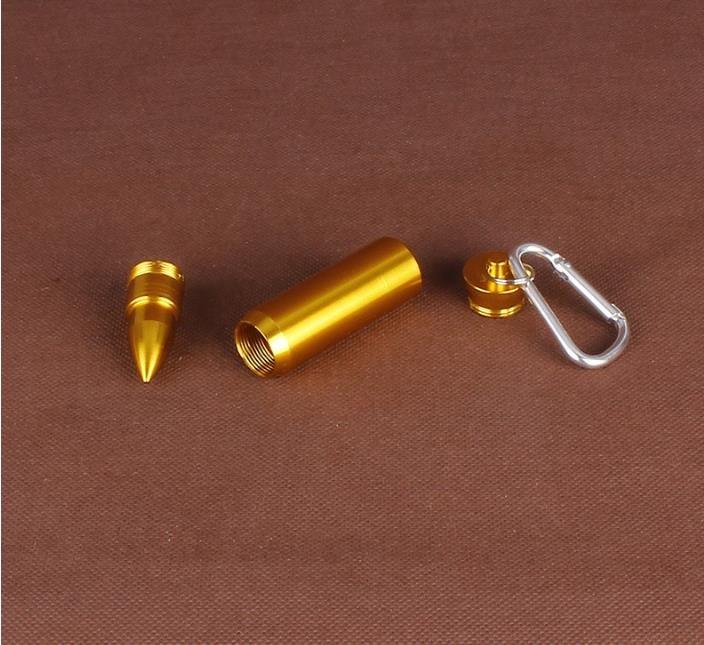 Creative Aluminum Alloy Gold Bullet Portable Ashtray Man Portable Keychain Ashtray