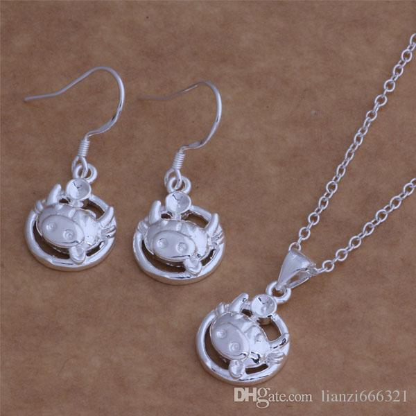 with tracking number New Fashion women's charming jewelry 925 silver 12 mix jewelry set 1448