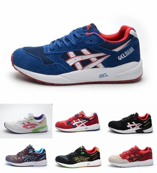 Brand Classical Asics GEL-Saga III 3 Tiffany Running Shoes For Women \u0026 Men,  Limited Edition Fashion Retro Breathable Sneakers Eur 36-45 Running Shoes  Asics ...
