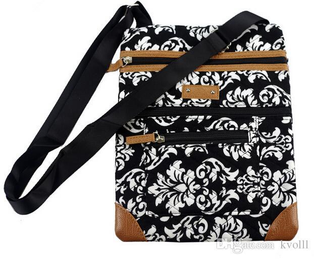 Hot sell European American famous brand minicci cotton single shoulder bag fashion, people flowers handbag wallet