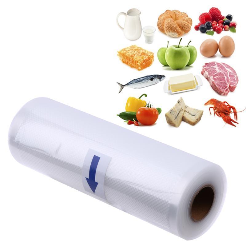 حقائب لفة فراغ السدادة التوقف الغذاء حقيبة الرئيسية خزائن المطبخ منظمة الأغذية التخزين كيس من البلاستيك 20x500cm 15x500cm