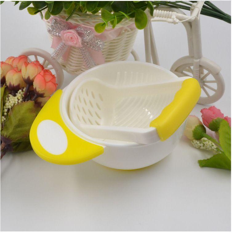 Supplément pour bol de broyage manuel pour bébé Fruits et légumes Bol pour masher