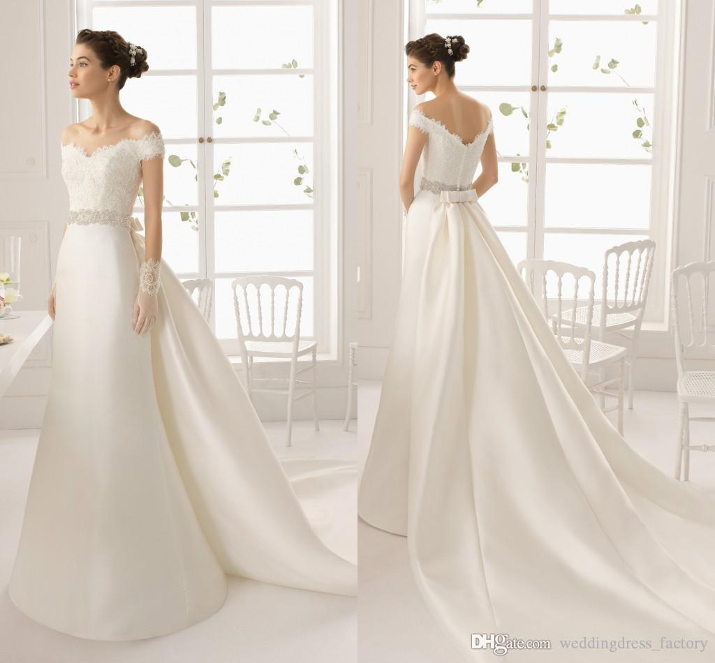 Simple Elegant 2015 Women Summer Wedding Dresses Flowing: MK03233 2015 Elegant White Off Shoulder Sheath Wedding