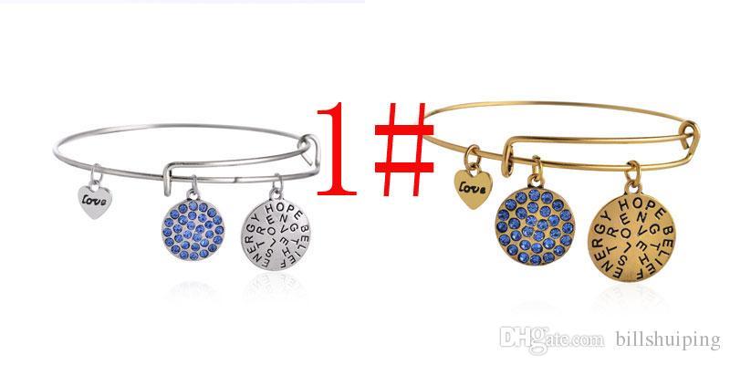 Mischarten Neue Art und Weisearmbandkristall Legierungs-Unendlichkeit baumeln drei Retro- Muster-DIY Armband-Armband-Schmucksachen