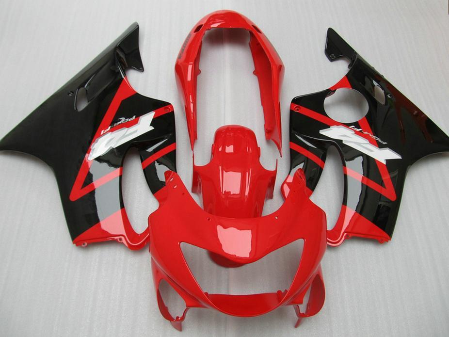 New Glossy black red Body parts for Honda fairing CBR 600 F4 1999 2000 Injection Mold fairings kit CBR600 F4 99 00 CIS0