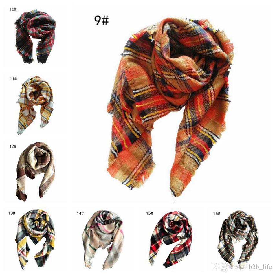 Kinder Plaid Schal Baby 100 * 100 CM Tartan Schal Wraps Herbst Winter Baby Schal Schal Kinder Plaid Decke Wraps Warm Halstuch 120 stücke OOA2753