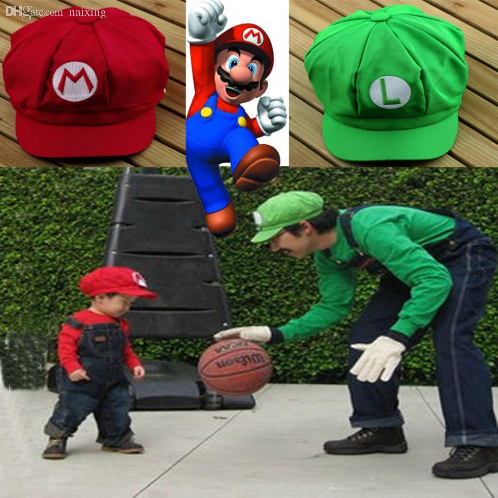 Compre Atacado New Arrival Adulto Tamanho Chic Luigi Super Mario Bros  Cosplay Hat Cap Baseball Cap Novo De Naixing 9b9f6877ed8