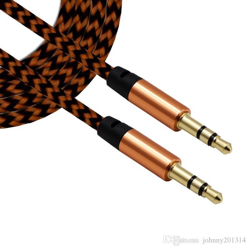 2018 Yeni varış 3.5mm AUX Ses Kabloları Erkek Için Erkek Stereo Araba Uzatma Ses Kablosu MP3 Cep Telefonu Için Ücretsiz DHL