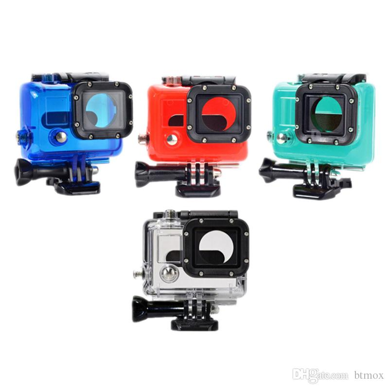 Go Pro Accessories For Gopro Waterproof Housing Case Mount Underwater Protective Hero 3 Plus Hero3 4 Camera Mounting