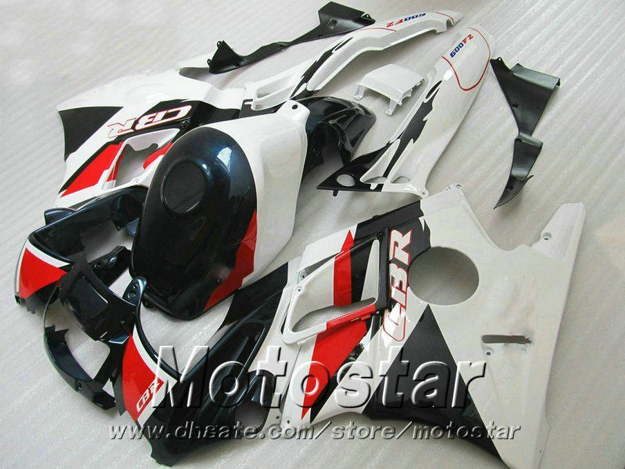Kit carena 7 regali gratuito HONDA CBR 600 F2 1991 1992 1993 1994 carene nere rosse bianche CBR600 91 - 94 motobike RF33