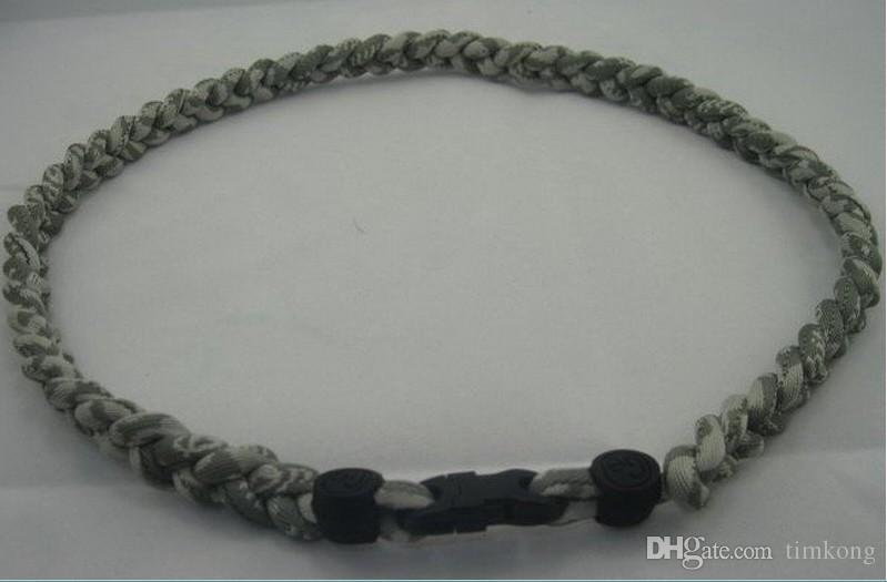 "Sports Tornado team necklaces college teamsl titanium braid 3 ropes school man body jewelry woman fashion jewelry Necklace size 18"" 20"" 22"""