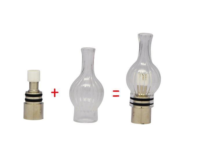 Wax Glass Gourd vase skull Atomizers Oil Dome Globe Wax Coils Vaporizer Globe Bulb Atomizer fit 510 ego t twist EVOD battery