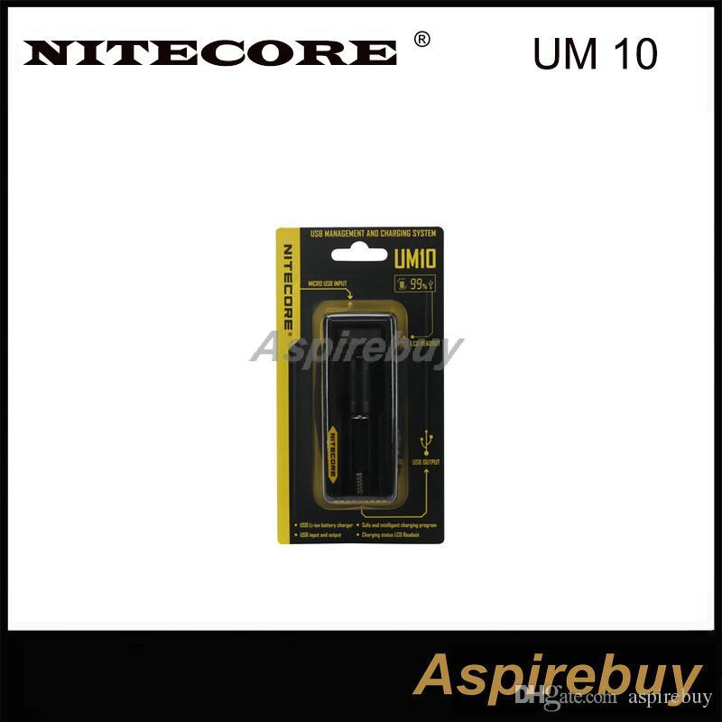ドライバッテリーの充電のためのLCDディスプレイが付いている本格的なNITECORE UM10インテリジェントな多機能バッテリーチャージャー