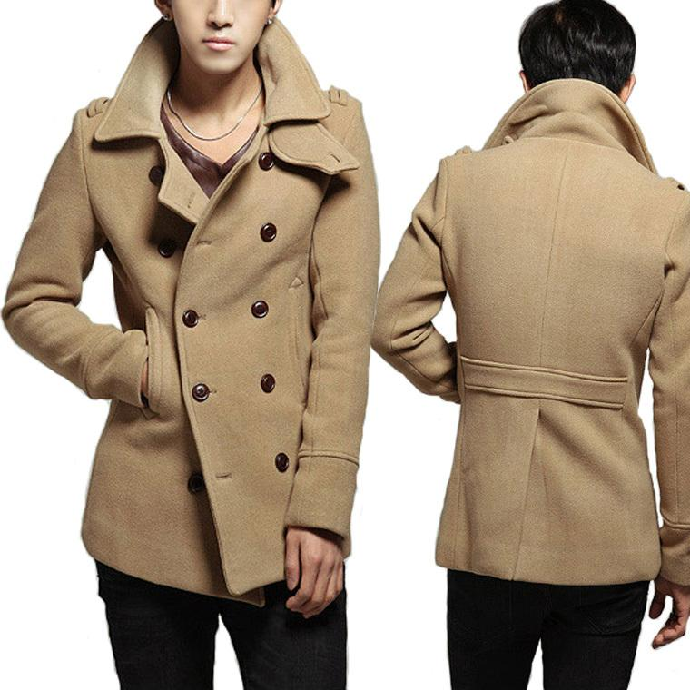 1d31a8cf3ae62 2019 2015 New Winter Jacket Men Double Breasted Trench Coats Mens Peacoat  Long Wool Overcoat Outdoors Slim Fit Casual Man Pea Coat From Li1739503628