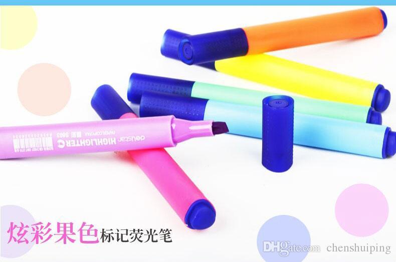 Korea Stationery Highlighter Fluorescent Liquid Chalk Marker Pen for LED Writing Board