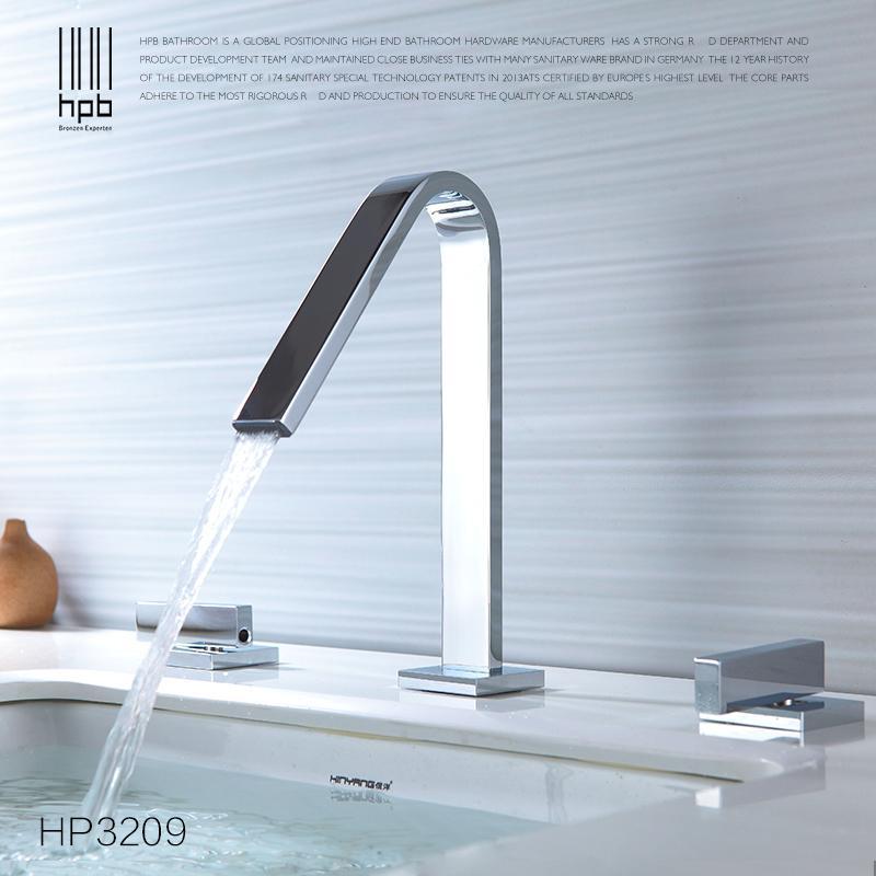 2018 Hpb European Style Widespread Basin Faucet Bathroom Sink Mixer ...