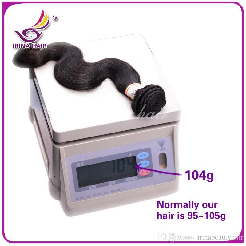 Büyük Promosyon! Ucuz Brezilyalı Hint Perulu Malezya Bakire Saç 400G Doğal İnsan Saç Dokuma Paketler Remy Vücut Dalga 7a Saç Uzatma