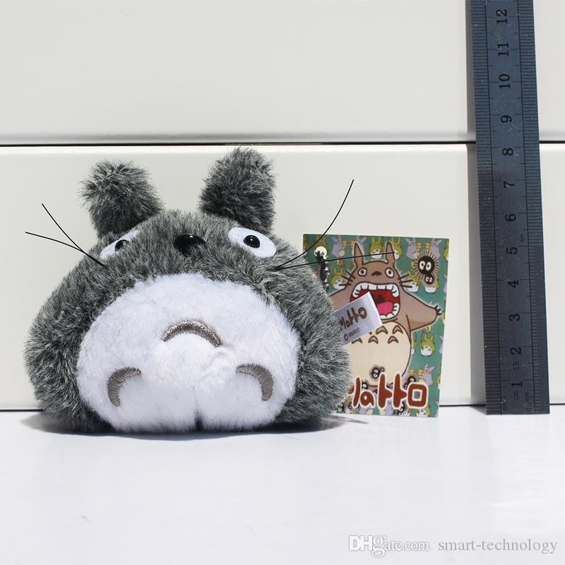 هاياو ميازاكي رمادي جارتي Totoro القطيفة سلسلة المفاتيح المعلقات لعب لينة مع شحن حلقة 7cm وEMS الحرة