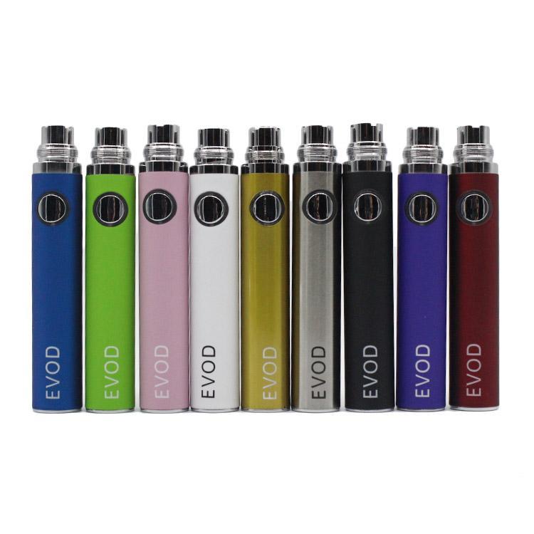 EVOD Battery 650mah 900mah 1100mah for MT3 CE4 CE5 CE6 Vivi Nova Protank Kanger Aspire Atomizer Electronic Cigarette E cigarette Kit 06h004