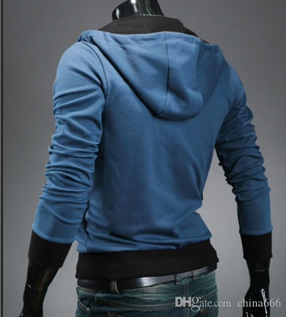 dorp ENVÍO Nuevo Assassin's Creed 3 Desmond Miles Hoodie Top Coat Jacket Disfraz de Cosplay, Assassins creed style Chaqueta de lana con capucha, @dds