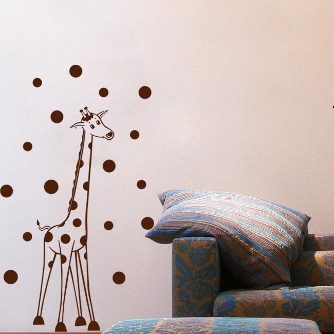 Giraffe Spots Wall Decals Vinyl Stickers Home Decor Nursery Wall - Vinyl wall decals home party