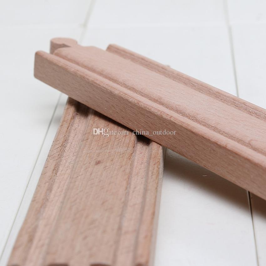 Voies droites réglées par voie en bois de train de DHL 23cm par la voie droite joue le système ferroviaire en bois