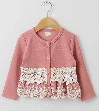 Korean Baby Girl Kids Lace Cardigan Sweater Coat Blazers Outfits ...