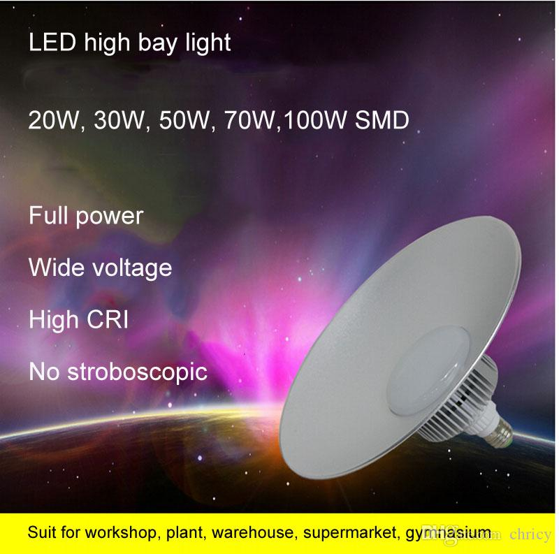 슈퍼 밝은 LED 높은 베이 빛 85-265V 산업 LED 램프 LED 조명 높은 베이 조명 공장 워크숍에 대 한 80LM / W CE ROHS 승인