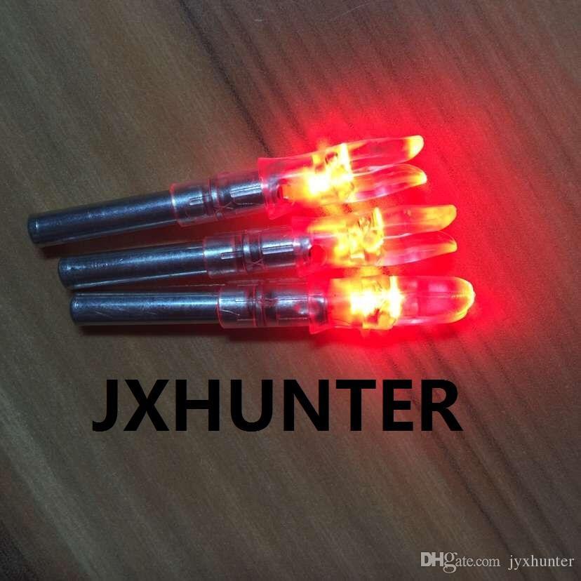 3PK rote Farbe automatische X 5,3 Bogenschießen Jagd beleuchtet LED-Licht Pfeilnocken für ID 5,3 mm Pfeile