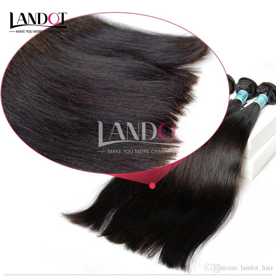 Indian Straight Hair Grade 8A Unprocessed Raw Human Hair Weave Bundles Indian Silky Straight Hair Extensions Natural Black Can Dye