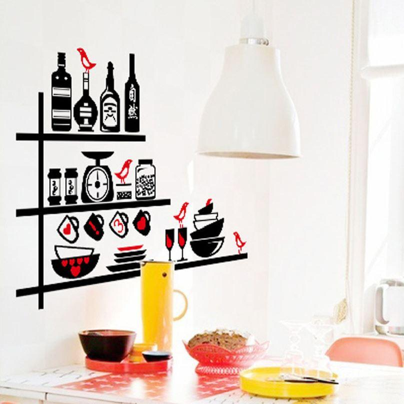 Kitchen Utensils Wallpaper 50cm*70cm kitchen utensils cutlery diy wall stickers removable