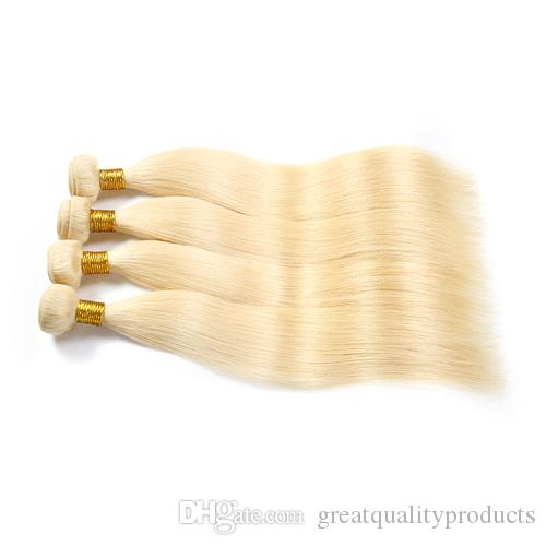 البرازيلي مستقيم الشعر الصف 8a اللون # 613 التبييض شقراء الشعر البشري نسج حزم البرازيلي الشعر 3 قطع 8-30 بوصة الساخن بيع