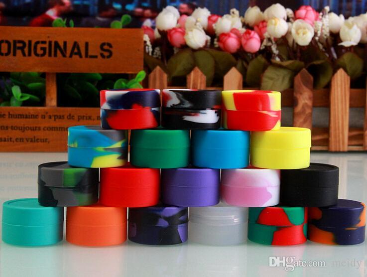 2014 Silikonowe słoiki DAB pudełko wielokrotnego użytku do koncentratu Wax EGO Elektroniczny papieros Multi Colors Free DHL Shipping