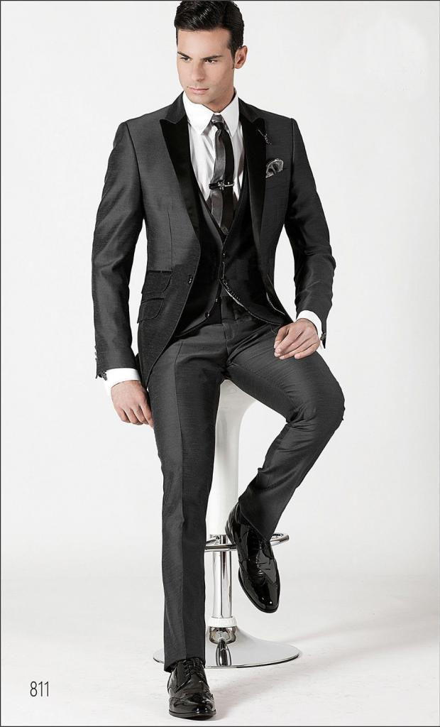 Men Fashion Designer Wedding Groom Tuxedo Dinner Suit Coat Jacket ...