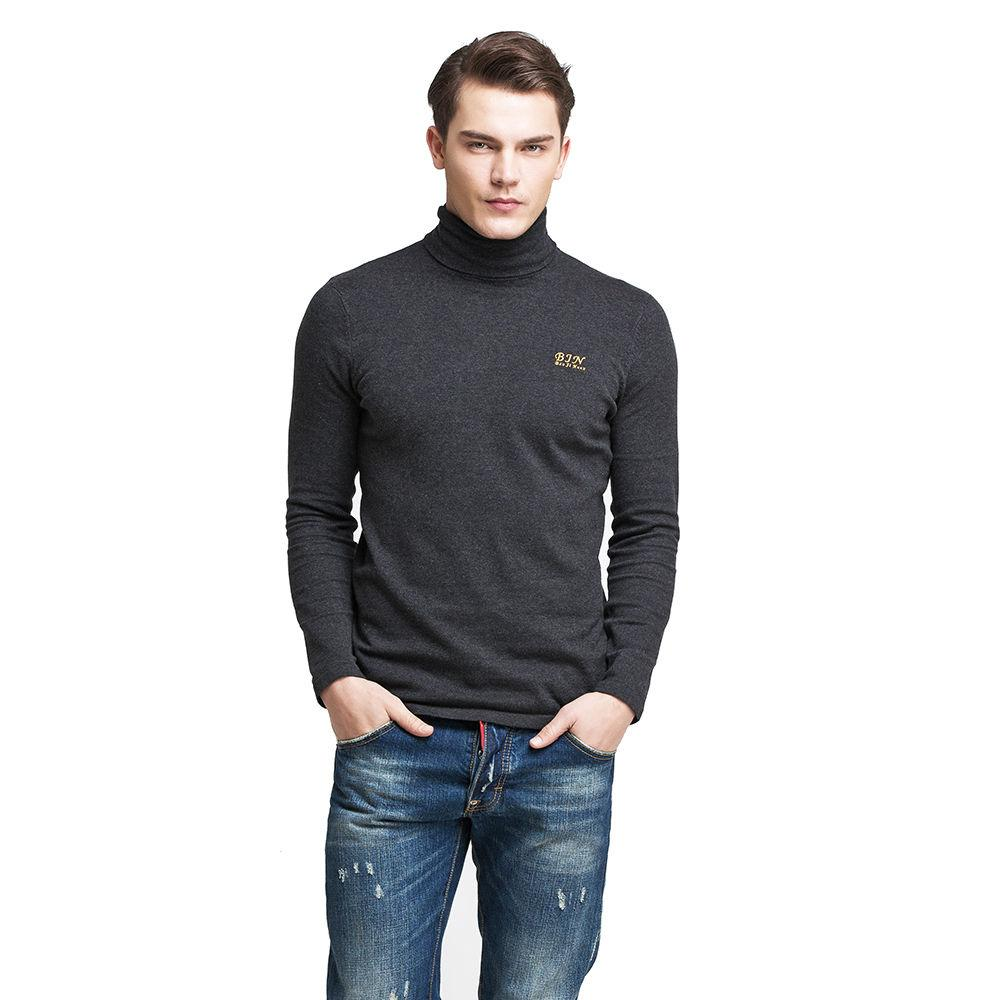 2018 Mens Roll High Polo Turtle Neck Jumper Knit Sweater Pullover ...