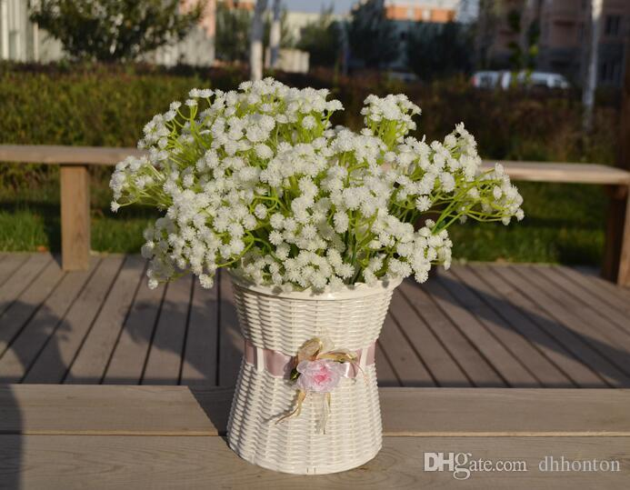 Gypsophila bebeğin nefes yapay çiçekler PU çiçek Bitki Ev Düğün Dekorasyon dekoratif çiçekler gelin buketi decorat PF01