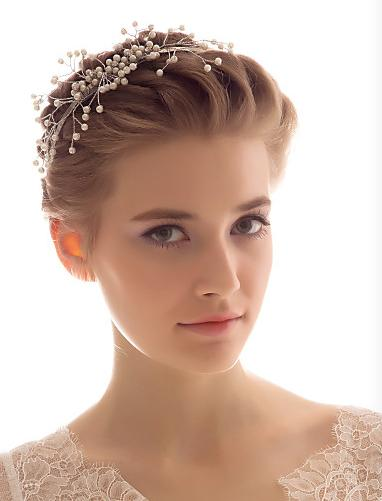 Charmigt bröllop Bröllop Hårbeskrivning Pearl Hairbands Bridal Hair Decorders Bridal Jewely Hair Band Gratis frakt