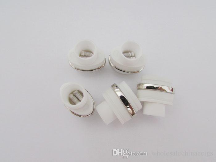 Mikro atomizer çekirdek balmumu kuru ot g Çift Seramik Çubuk bobin Düz Buharlaştırıcı Değiştirme Isıtma bobin kuru ot ve balmumu