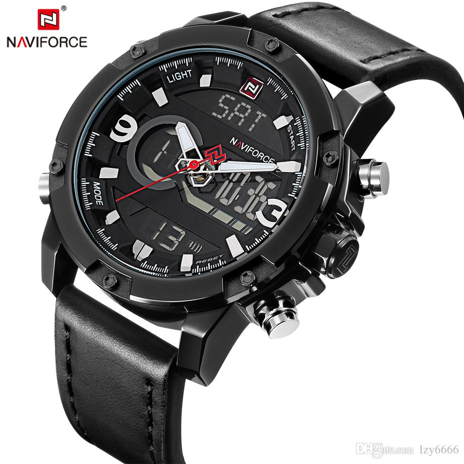 a3ec885b868 NAVIFORCE Mens Watches Fashion Casual Sport Black Leather Watch Male Clock  Man Army Military Quartz Wrist Watch Relogio Masculino Watch For Sale Watch  Sales ...