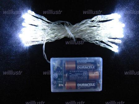 LED-Weihnachtsbeleuchtung Fairy String Lampe Urlaub Beleuchtung 3 Meter Blaulicht Pure White Light Party Beleuchtung Urlaubslichter LED String