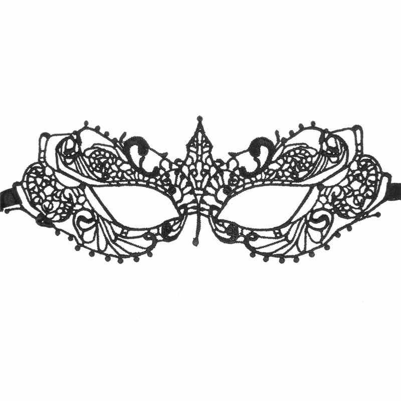 Dantel Cadılar Bayramı Maskeleri Güzel Parti Venedik Masquerade Süslemeleri Yarım Yüz Zambak kadın Lady Seksi Noel Hediyesi Için Mardi Gras Maskeleri ...