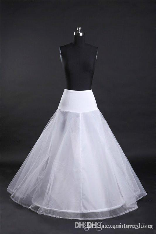 in Stock 1-hoop 2-layer Tulle Aline Petticoat Bridal Wedding Petticoat Underskirt Crinolines for Wedding Dress